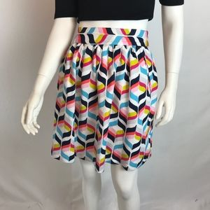 Cynthia Rowley Multicolor Full Mini Skirt